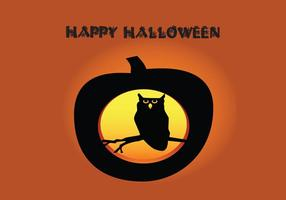 Vector-halloween-owl-pumpkin