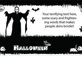 Halloween - Carte postale effrayante