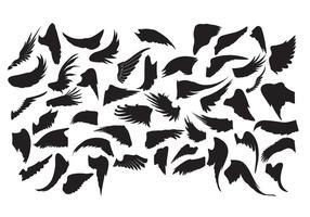 Freie Flügel Silhouetten