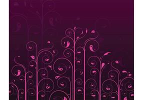 Patrón de flor de remolinos de vector