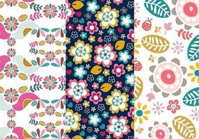 Blume und Vogel Illustrator Pattern Pack 2