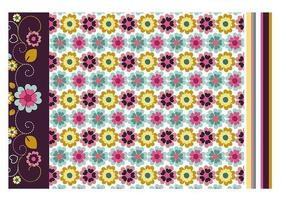 Bloemen behang en patroon vector pack