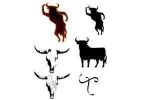 Silhueta de touro espanhol