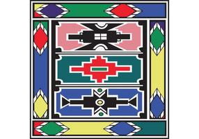 Vector Background Ndebele Artwork