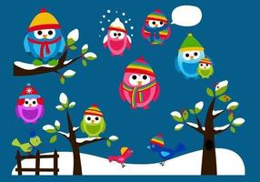 Winter Uil Vector Pack