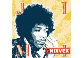 NixVex Jimi Hendrix Gratis Vector