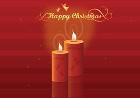 Brillantes velas de Navidad