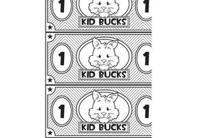 Kid Bucks - Animal themed printable play money