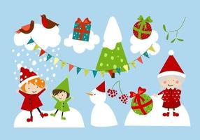 White-christmas-vector-pack