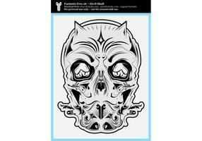 FF 26: Teufel Schädel Schwarz und Weiß