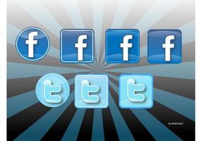 Iconos Twitter und Facebook