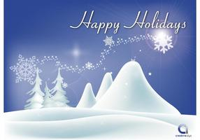 Vector Happy Holidays Wallpaper