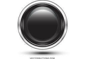 Botón libre del círculo del negro del platino