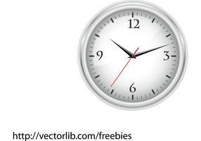 Relógio de escritório branco