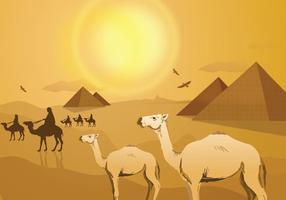 Paysage du désert égyptien