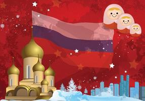 Russischen Hintergrund