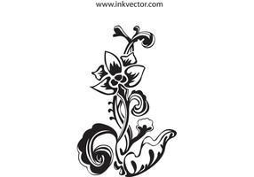Vector de flores - desenhado à mão