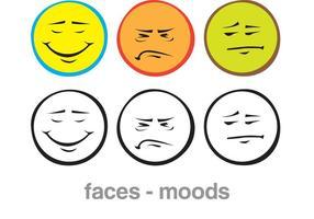 Tecknade ansikten och stämningar
