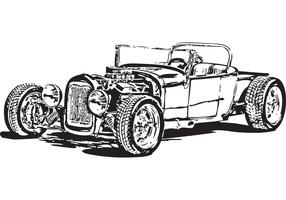 Gratis Model T hot rod vector
