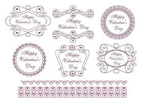 Happy Valentine's Day Label Pack Vector