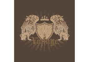 Vector emblema de la vendimia libre