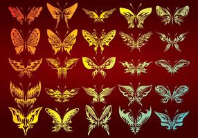 25 Abstract Butterflies Vectors