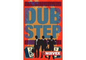 Nixvex Dubstep Poster Free Vector