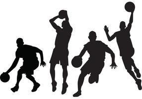 Basketballspieler Vektoren