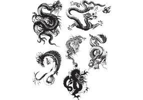 ¡Vectores del dragón!
