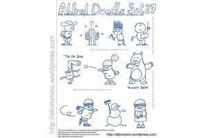 Alfred doodle set 27