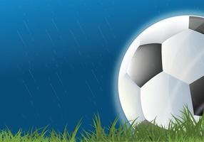 Fußball im Regen