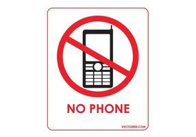 Pas de téléphone