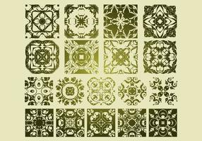 16 Antieke Floristische Vector Patronen