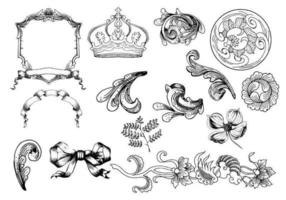 Etched Ornament Vectors