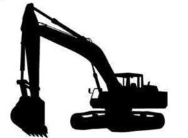 Excavator Clipart Black And White Free dump truck vector art hubprime ...
