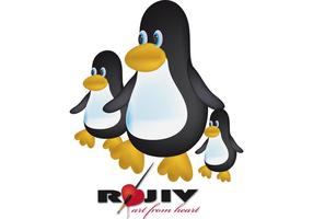 Toon penguin vector