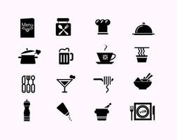 restaurant pictogram vector pack