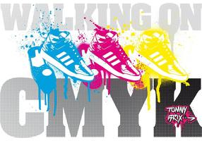WALKING ON CMYK - design TommyBrix