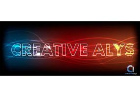 Glödande ljus Textvektor Effekt