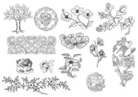 Earthy Ornament Vector Pack
