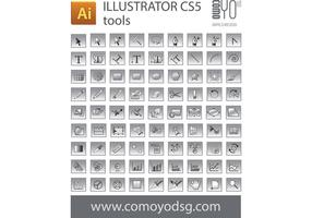 Illustrator CS5 tool icon Vectors