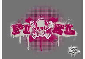 PIXEL SKULL - ontwerp Tommy Brix
