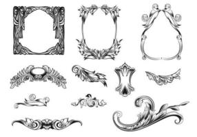 Feathered-frames-vector-pack