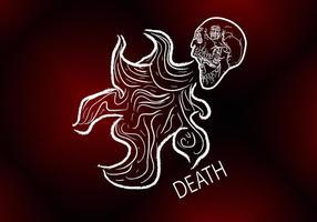 Vetor da respiração da morte