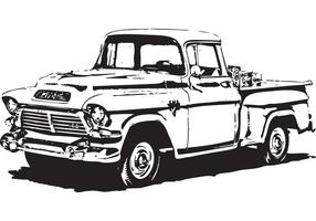 1950's GMC Pick-Up Vector