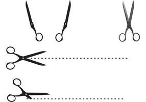 Vectores de tijera de borde de corte
