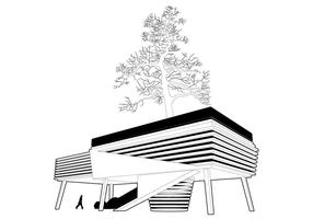 House Around The Tree Vector