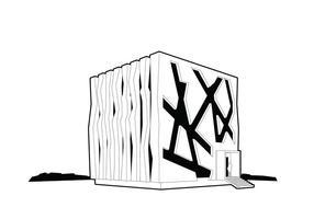Vector cubo verde