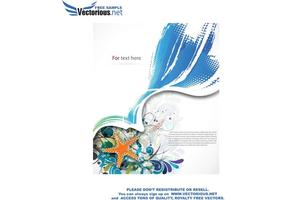 Sommer Hintergrund Vektor-Illustration