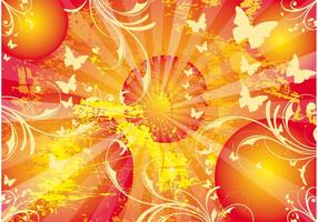 Sun-vector-background-sunny-life-poster